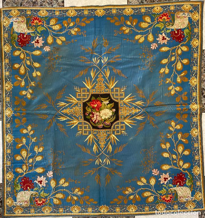 TAPIZ ANTIGUO MOTIVO FLORAL , AUBUSSON TAPESTRY (Antigüedades - Hogar y Decoración - Tapices Antiguos)