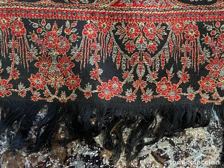 Antigüedades: TAPIZ ANTIGUO POSIBLE KASHMIR , - Foto 9 - 288482428