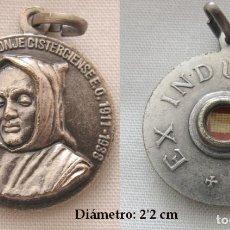 Antiguidades: MEDALLA CON RELIQUIA EX INDUMENTIS BEATO RAFAEL ARNAIZ. Lote 288511558