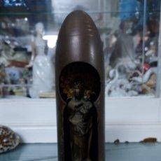 Antigüedades: VIRGEN DEL PILAR EN UNA BALA. Lote 288534618