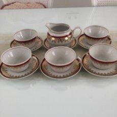 Antigüedades: JUEGO DE CAFÉ. PORCELANA SANTA CLARA.. Lote 288547288