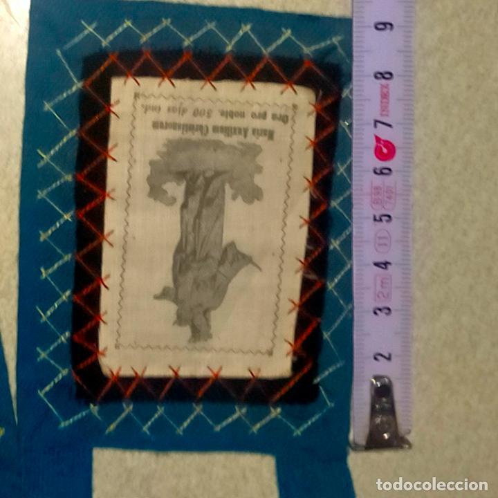 Antigüedades: ANTIGUO ESCAPULARIO CON VIRGEN MARIA AUXILIADORA RARO MODELO ARCHICOFRADIA Y ESCUDO SALESIANO - Foto 5 - 288561728