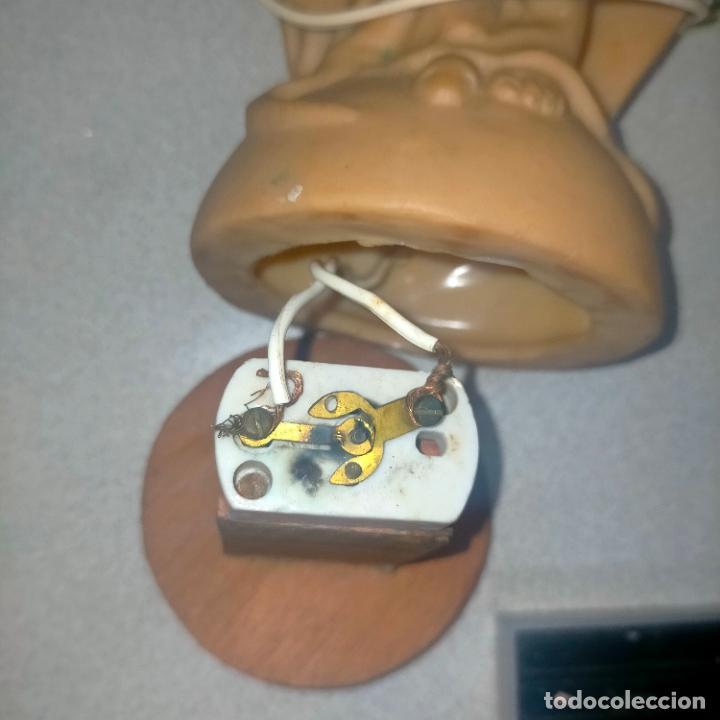 Antigüedades: antigua virgen milagrosa electrificada goma años 60 aproximadamente ¿lampara? interruptor de perilla - Foto 10 - 288569393