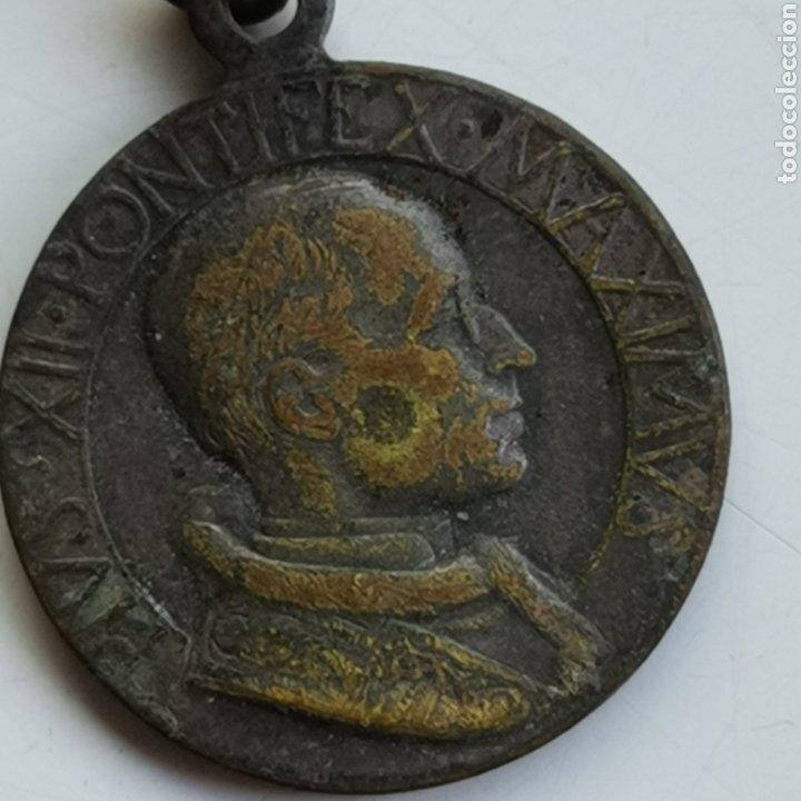MEDALLA DE BRONCE, DE PIUS XII, (Antigüedades - Religiosas - Medallas Antiguas)