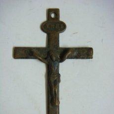 Antigüedades: MEDALLA CRUCIFIJO ANTIGUO DE DUVENIA DE MISSION ,Nº-14 (&). Lote 288599588