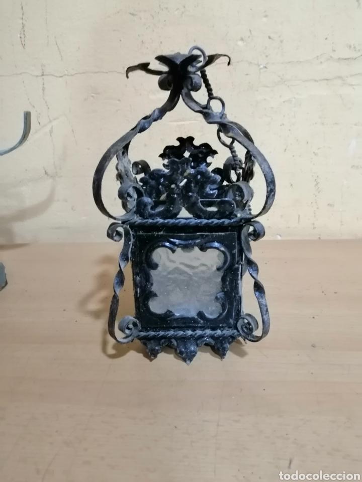 ANTIGUO FAROL PARA VELA (Antigüedades - Iluminación - Candelabros Antiguos)