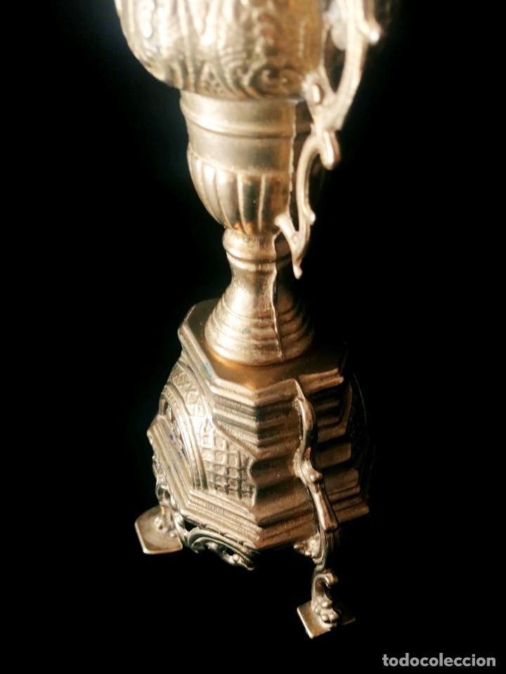 Antigüedades: Antiguo candelabro Estilo Luis XVI - Bronce patinado - 4 brazos - Foto 11 - 288602488