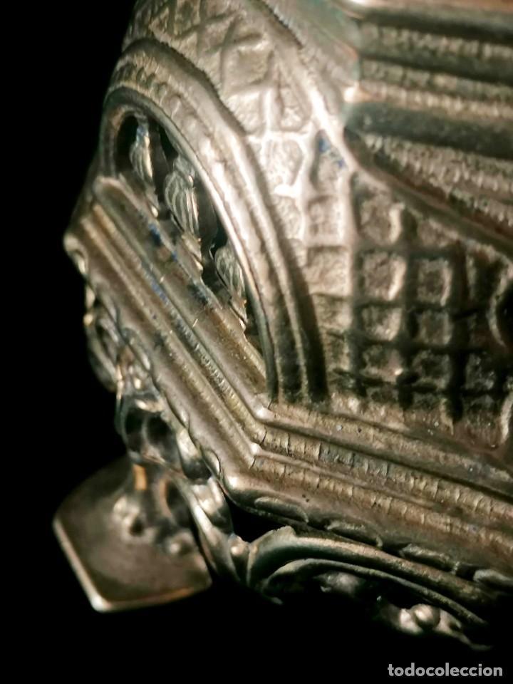 Antigüedades: Antiguo candelabro Estilo Luis XVI - Bronce patinado - 4 brazos - Foto 12 - 288602488