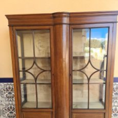 Antigüedades: VICTORIAN VITRINE. ( FREE DELIVERY COSTA DEL SOL ) OTHER BUYERS COLLECT. Lote 288602843