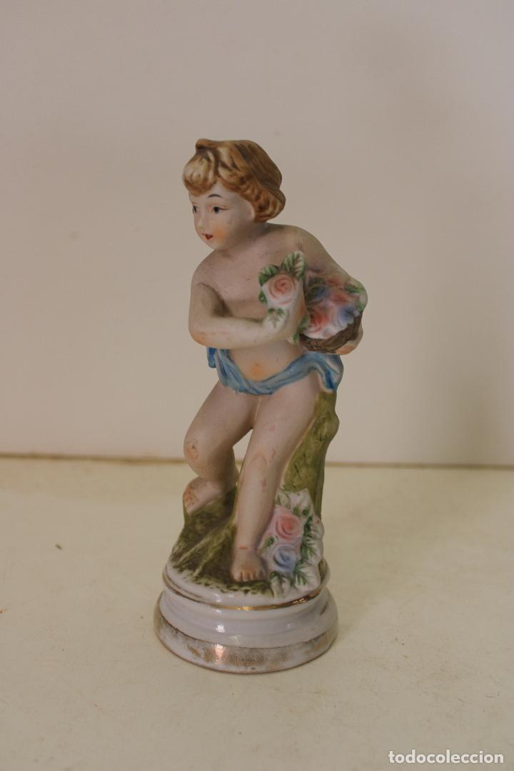 Antigüedades: angel de porcelana antiguo - Foto 5 - 288604958