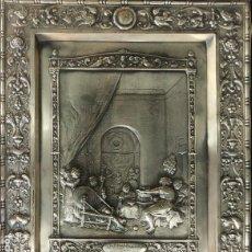 Antigüedades: VELAZQUEZ - LAS HILANDERAS - CUADRO/PLACA EN COBRE CON BAÑO DE PLATA - APROX. 44,5 CM. X 35 CM.. Lote 288613153