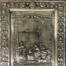 Antigüedades: VELAZQUEZ - LAS MENINAS - CUADRO/PLACA EN COBRE CON BAÑO DE PLATA - APROX. 44,5 CM. X 35 CM.. Lote 288613488