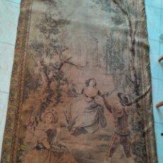 Antigüedades: ANTIGUO TAPIZ FRANCES BORDADO SIGLO XIX, DESPUES DE FRANCISCO GOYA. Lote 288621483