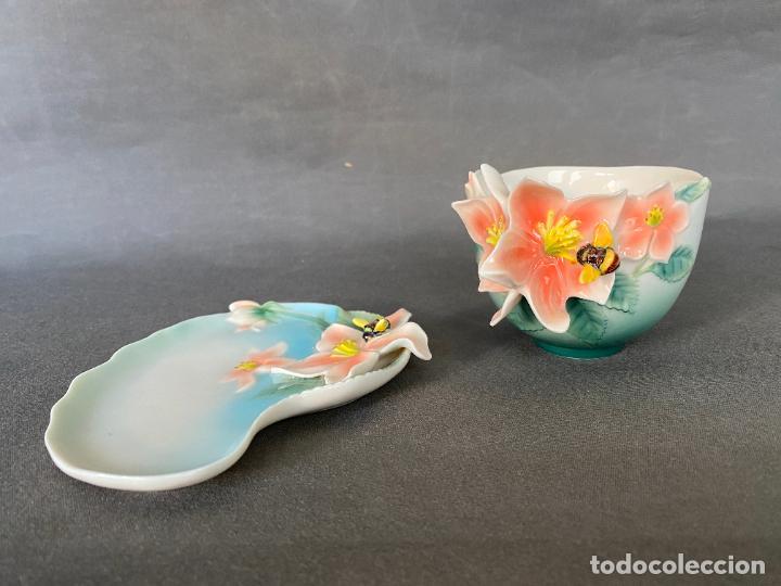 Antigüedades: FRANZ PORCELAIN BEE DESIGN , TEA CUP , PORCELANA CHINA , - Foto 2 - 288627513