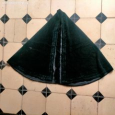 Antigüedades: ANTIGUO MANTO DE VIRGEN DOLOROSA DE VESTIR TERCIOPELO CHIFON BUENA CALIDAD REGALO RETAL 118,5 X 62. Lote 288629173