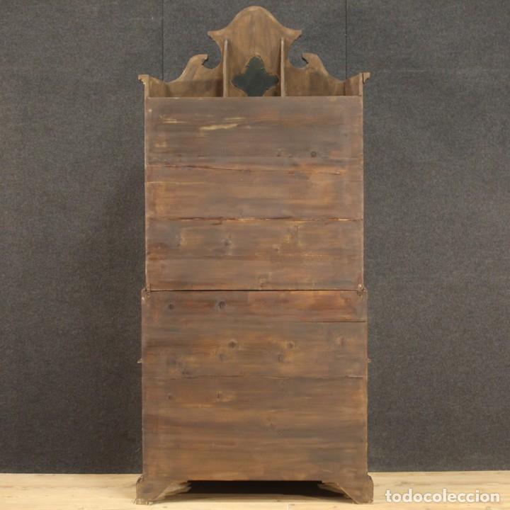 Antigüedades: Trumeau veneciano con incrustaciones de nogal, nudo, arce y haya - Foto 10 - 288631643
