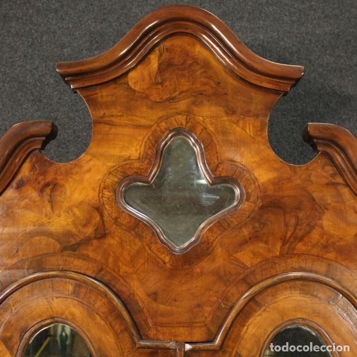 Antigüedades: Trumeau veneciano con incrustaciones de nogal, nudo, arce y haya - Foto 12 - 288631643