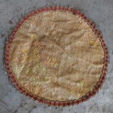 Antigüedades: TAPETE REDONDO, 18 CM DE DIÁMETRO. Lote 288642158