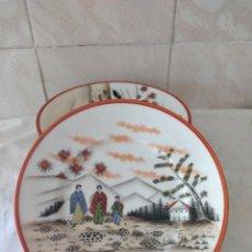 Antigüedades: LOTE DE 6 PLATOS DE POSTRE DE PORCELANA CHINA,SELLADOS.. Lote 288642478