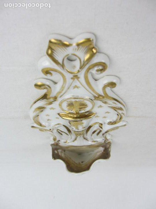 Antigüedades: Benditera en porcelana del siglo XIX - Foto 5 - 288650638