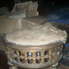 Antigüedades: BANQUETA DE METAL. Lote 288670878