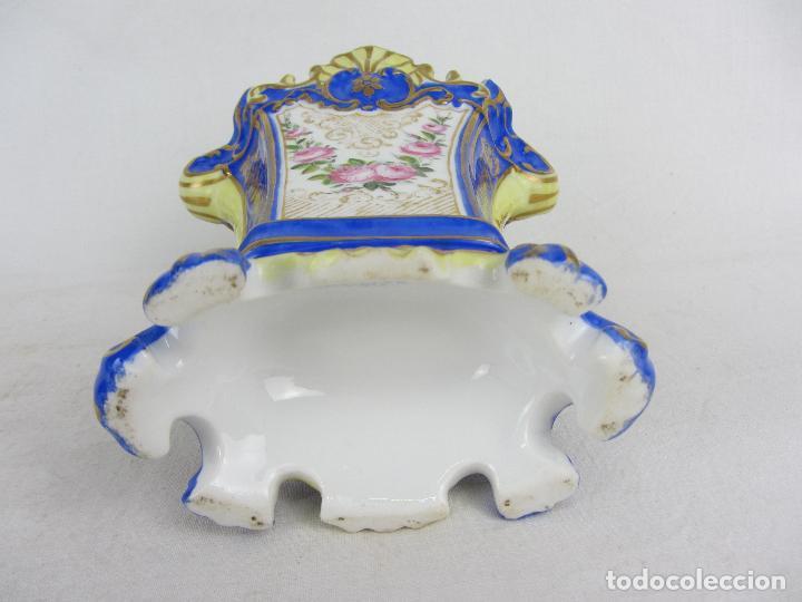 """Antigüedades: Jarrón en porcelana """"Viejo París"""" pintado a mano, siglo XIX - Foto 6 - 288680258"""