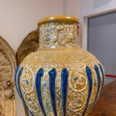 Antigüedades: VASIJA TIPO ANFORA ÁRABE, FIRMADA, PROBABLEMENTE GRANADA. Lote 288693048