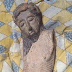 Antigüedades: TALLA DE MADERA CON POLICROMIA ANTIGUA SIGLO XVI CRISTO. Lote 288697713