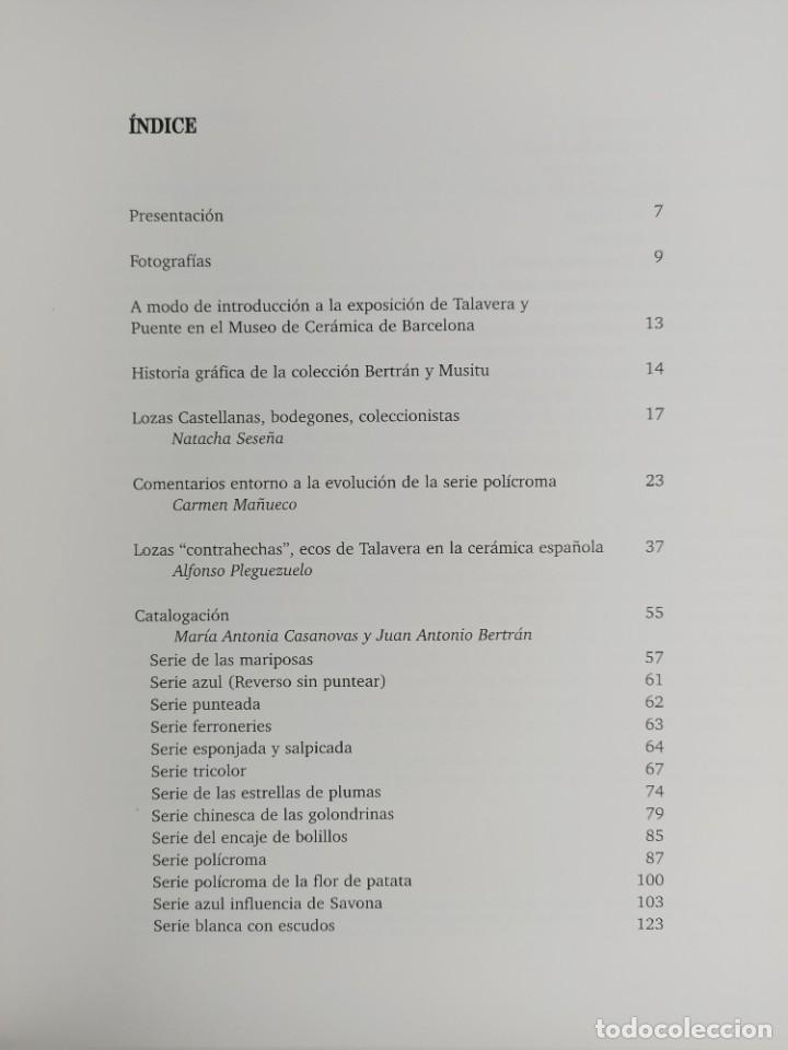 Antigüedades: CERAMICA DE TALAVERA DE LA REINA Y PUENTE DEL ARZOBISPO / EN LA COLECCION BERTRAN Y MUSITU - Foto 5 - 288698913