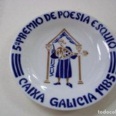 Antigüedades: PLATO CASTRO - 5º PREMIO DE POESIA ESQUIO-1985-CAIXA GALICIA- 16,5 CENTIMETROS - N 8. Lote 288700203