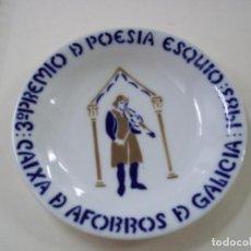 Antigüedades: PLATO CASTRO - 3º PREMIO DE POESIA ESQUIO-1983-CAIXA DE AFORROS DE GALICIA- 16,5 CENTIMETROS - N 8. Lote 288700328