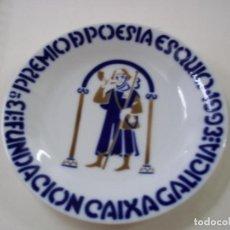 Antigüedades: PLATO SARGADELOS - 13º PREMIO DE POESIA ESQUIO-1993-FUNDACION CAIXA GALICIA- 16,5 CENTIMETROS - N 8. Lote 288700558