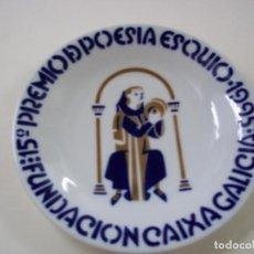 Antigüedades: PLATO SARGADELOS - 15º PREMIO DE POESIA ESQUIO-1995-FUNDACION CAIXA GALICIA- 16,5 CENTIMETROS - N 8. Lote 288701433
