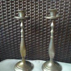 Antigüedades: CANDELABROS DE ALPACA.. Lote 288704233