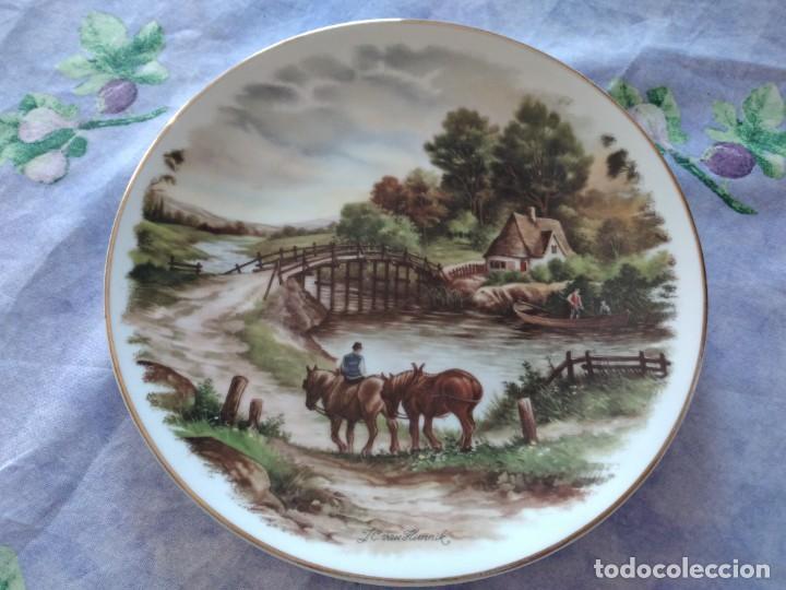 Antigüedades: Antiguo plato decorativo porclana Cistercienses de La Palma Cartagena - Foto 2 - 288718023