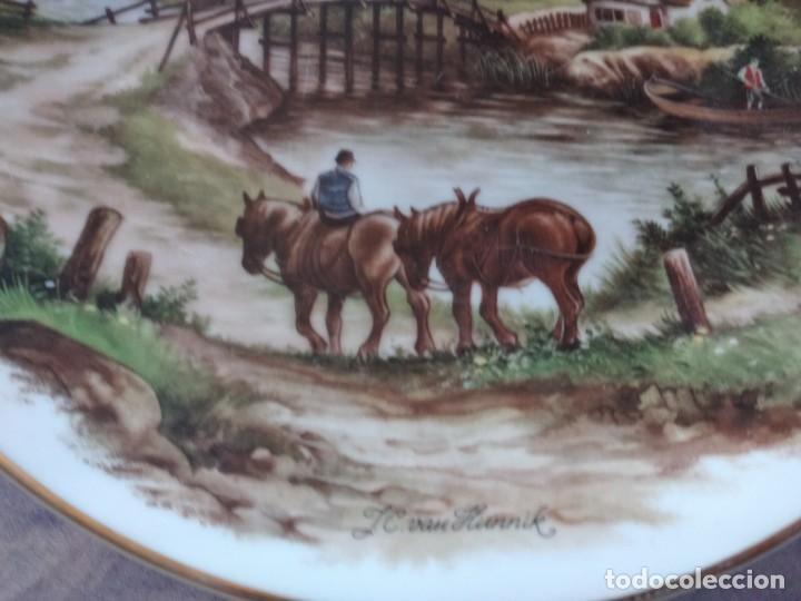 Antigüedades: Antiguo plato decorativo porclana Cistercienses de La Palma Cartagena - Foto 5 - 288718023