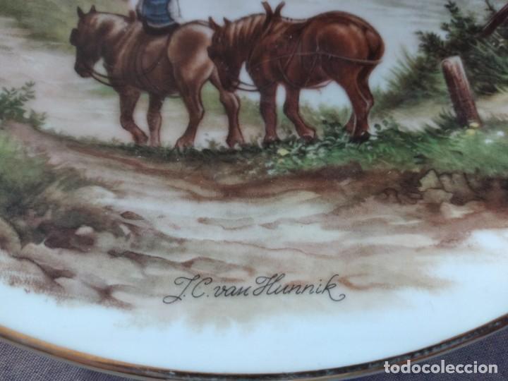 Antigüedades: Antiguo plato decorativo porclana Cistercienses de La Palma Cartagena - Foto 6 - 288718023