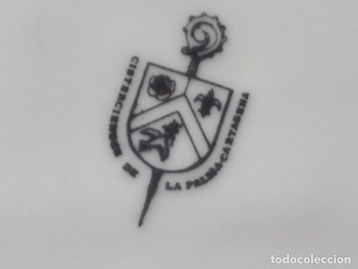 Antigüedades: Antiguo plato decorativo porclana Cistercienses de La Palma Cartagena - Foto 7 - 288718023