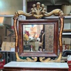 Antigüedades: CONSOLA CON ESPEJO. MADERA DE PALISANDRO. ESTILO IMPERIO. SIGLO XIX-XX.. Lote 288621923