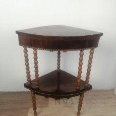 Antigüedades: ESQUINERO DE MADERA. Lote 288874898