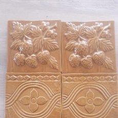 Antigüedades: AZULEJOS ANTIGUOS DE GRAN CALIDAD,CON RELIEVE Y MOTIVOS VARIOS. Lote 288875108