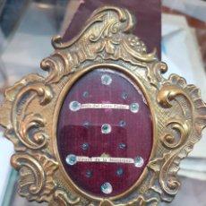 Antigüedades: ANTIGUO RELICARIO LATON RELIGIOSO JESUS GRAN PODER Y VIRGEN DE LA MACARENA SEVILLA. Lote 288877883