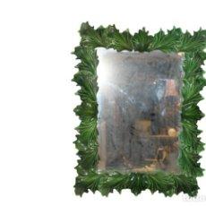 Antigüedades: ESPEJO CON ARCO DE PORCELANA HISPANA MANISES DE VALENCIA. Lote 288892553