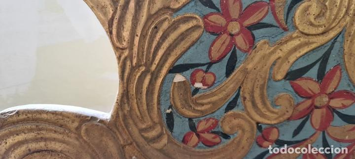 Antigüedades: CAMA OLOTINA CON LA VIRGEN DEL CARMEN. MADERA TALLADA Y POLICROMADA. SIGLO XVIII. - Foto 16 - 288916953