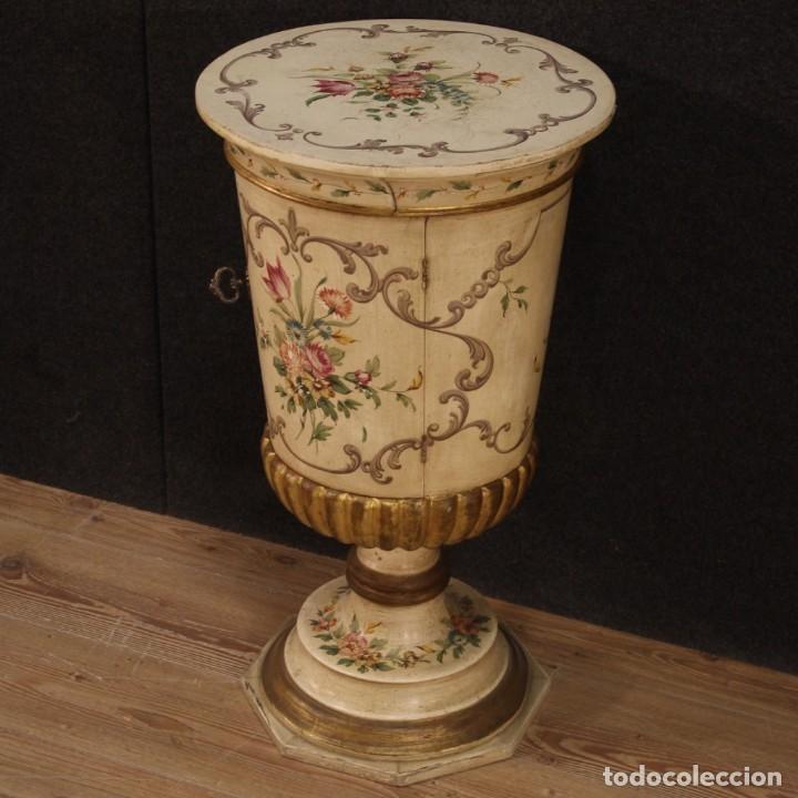 Antigüedades: Mesilla italiana dorada y pintada - Foto 3 - 288928913