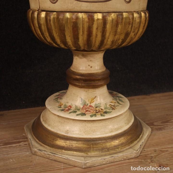 Antigüedades: Mesilla italiana dorada y pintada - Foto 4 - 288928913