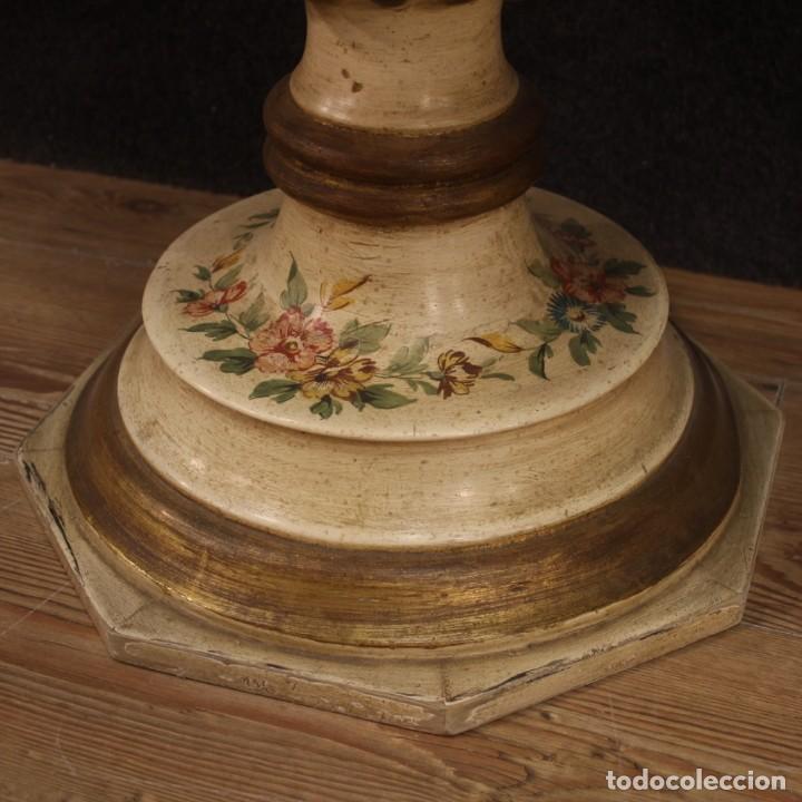 Antigüedades: Mesilla italiana dorada y pintada - Foto 5 - 288928913