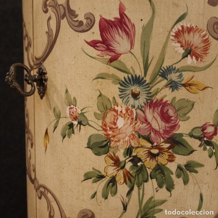 Antigüedades: Mesilla italiana dorada y pintada - Foto 6 - 288928913