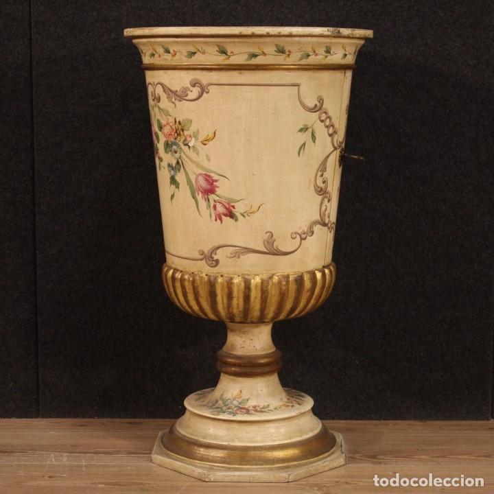 Antigüedades: Mesilla italiana dorada y pintada - Foto 9 - 288928913