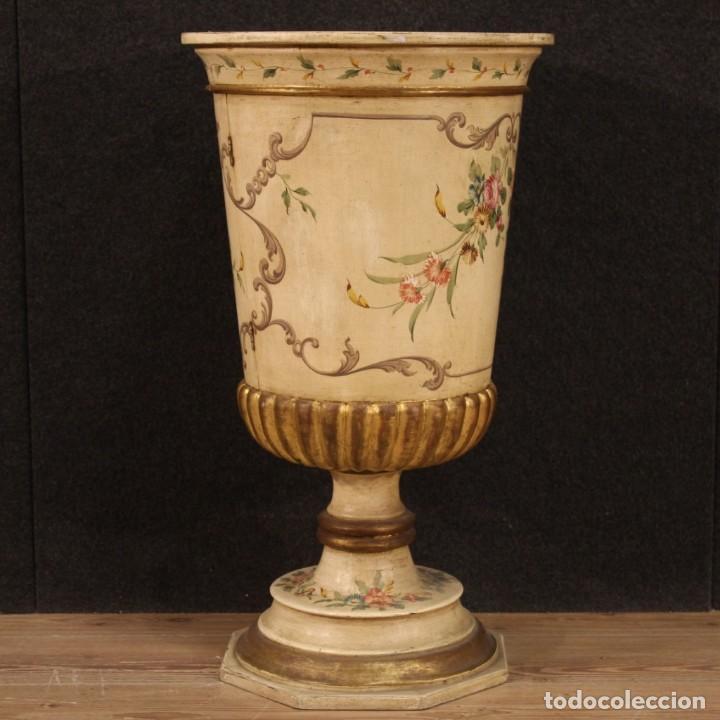 Antigüedades: Mesilla italiana dorada y pintada - Foto 10 - 288928913